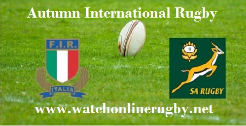 Italy vs South Africa live rugby