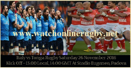 Italy vs Tonga Live stream
