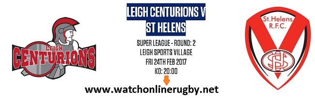 Leigh Centurions Vs St Helens live