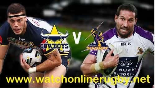 Melbourne Storm vs North Queensland Cowboys live
