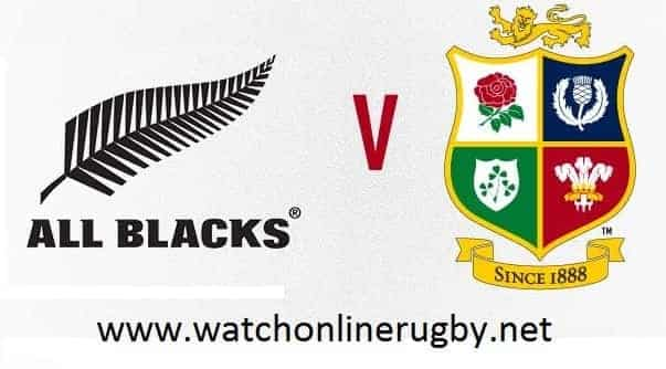 All Blacks vs British and Irish Lions live