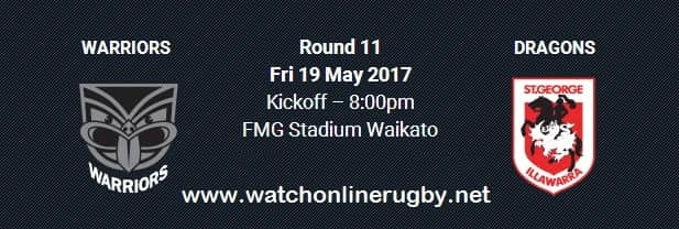 New Zealand Warriors vs Dragons live