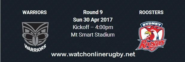 New Zealand Warriors vs Sydney Roosters live