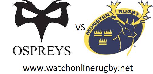 Ospreys vs Munster live
