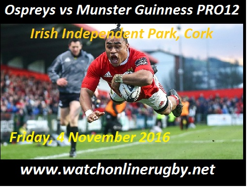 Ospreys vs Munster