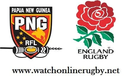 Papua New Guinea vs England live