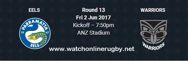 Parramatta Eels vs New Zealand Warriors live
