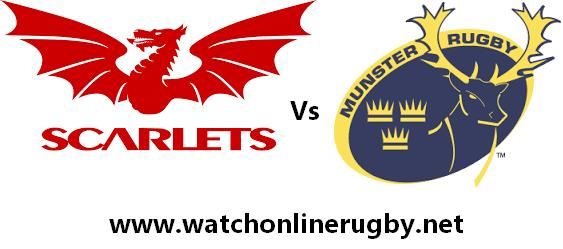 Scarlets vs Munster live
