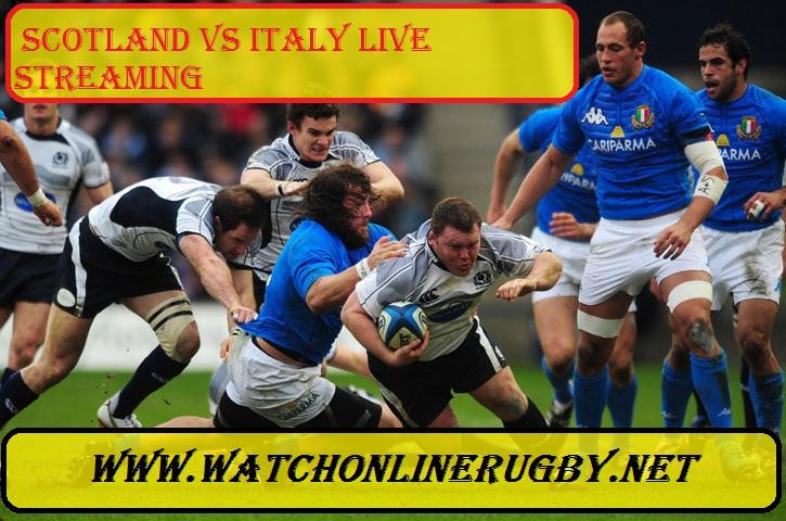 Scotland vs Itlay Live