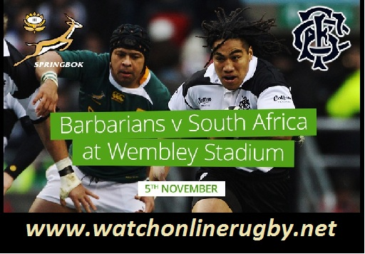 South Africa vs Barbarians live