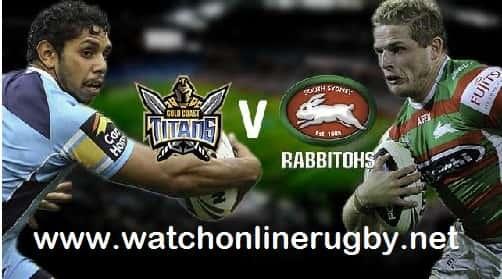 South Sydney Rabbitohs vs Gold Coast Titans live
