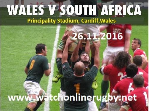 Springboks vs Wales live