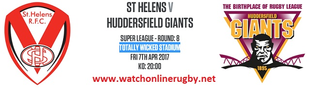 St Helens Vs Huddersfield Giants live