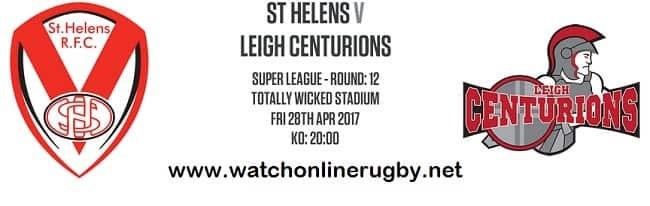 St Helens Vs Leigh Centurions live