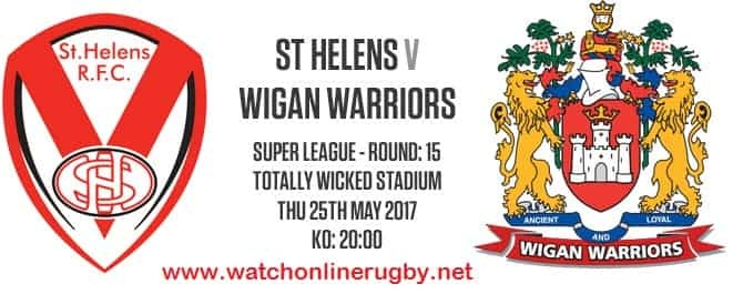 St Helens Vs Wigan Warriors live rugby