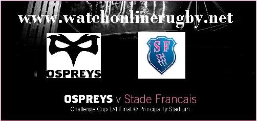 Stade Francais vs Ospreys live