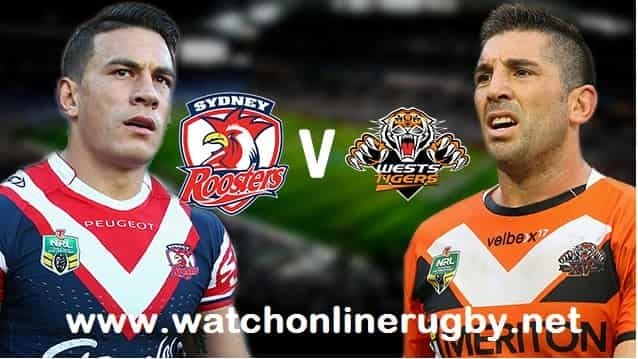 Sydney Roosters vs Wests Tigers live