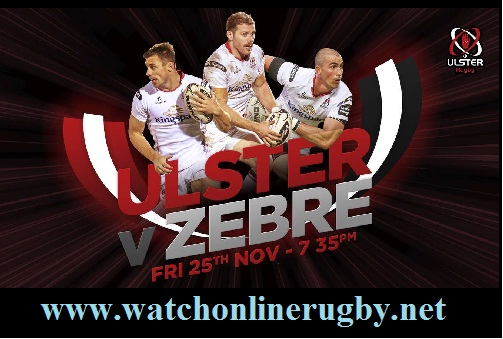 Ulster vs Zebre live