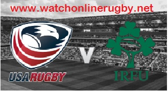USA vs Ireland  rugby live