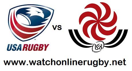 USA vs Georgia rugby live