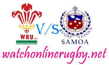 Samoa vs Wales rugby live