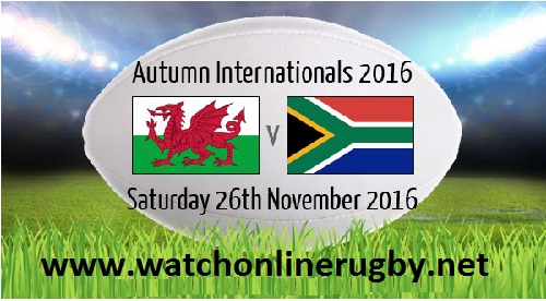 Wales vs South Africa stream live