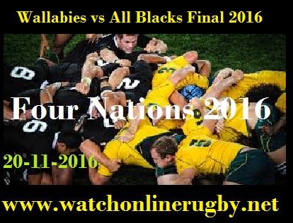 Wallabies vs All Blacks final
