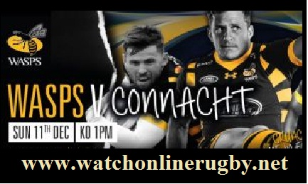 Wasps vs Connacht live