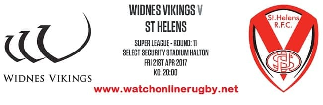 Widnes Vikings Vs St Helens live
